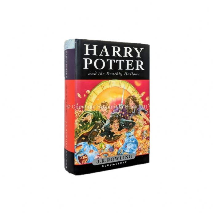 Harry Potter and the Deathly Hallows by J.K. Rowling Signed by Illustrator Jason Cockcroft 1st Ed